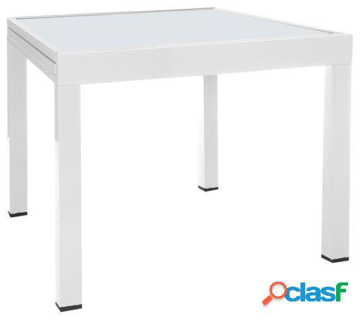 Wellindal Mesa extensible thais aluminio blanco 80x80x74 cm