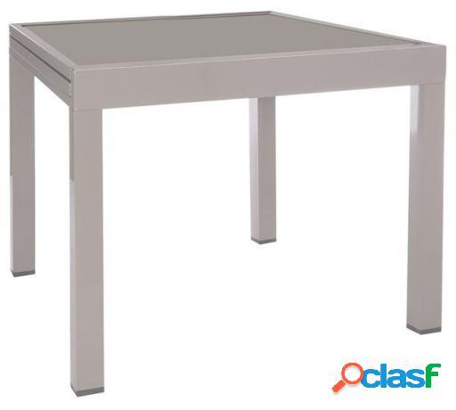 Wellindal Mesa extensible thalia aluminio gris 90x90x74 cm