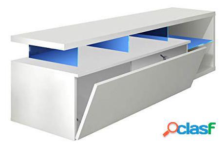 Wellindal Mueble Blue-Tech Para Salón Color Blanco Brillo
