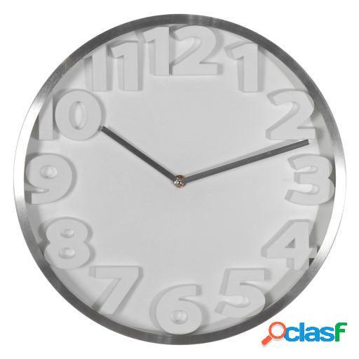 Wellindal Reloj pared aluminio 35cm con numeros 3d