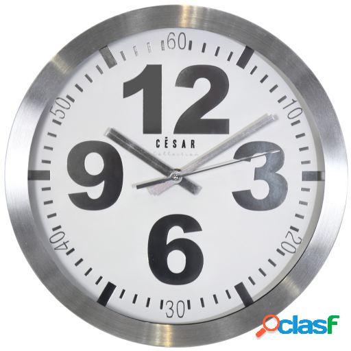 Wellindal Reloj pared aluminio 38cm con numeros grandes