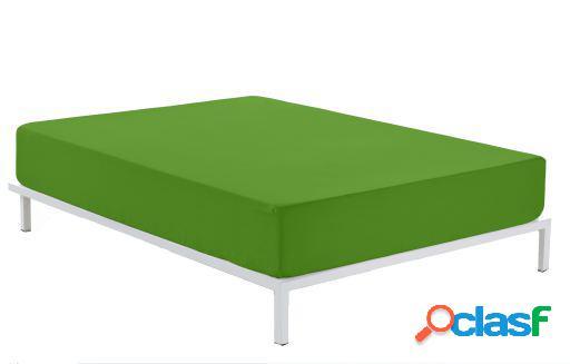 Wellindal Sábana Bajera Combi 50/50 Lisos Verde 105 cm
