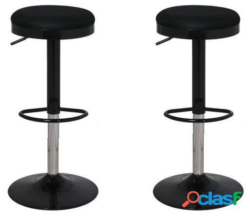 Wellindal Set 2 taburetes acero con asiento rejilla