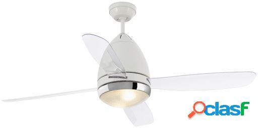 Wellindal Ventilador Con Luz Faretto 131Cm Blanco 4 Palas 2
