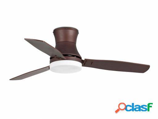 Wellindal Ventilador Con Luz Tonsay 132 Cms Marrón 2Xe27
