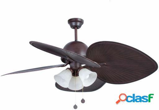Wellindal Ventilador Sin Luz Cuba 132 Cm Marrón 4 Palas
