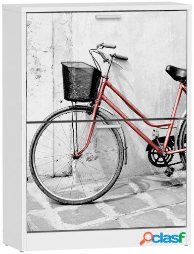 Wellindal Zapatero de 2 trampones due bicicleta roja