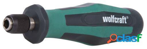 Wolfcraft Atornillador manual con racor para bits mediano