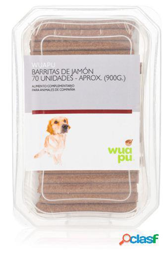 Wuapu Barritas de Jamón para Perros 70 Unidades