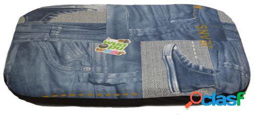 Wuapu Colchoneta Rectangular Jeans para Perros Desenfundable