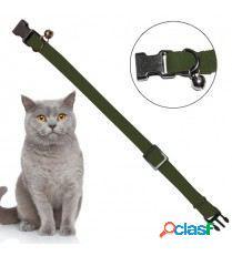 Yagu Collar Elastico Para Gato Liso Verde