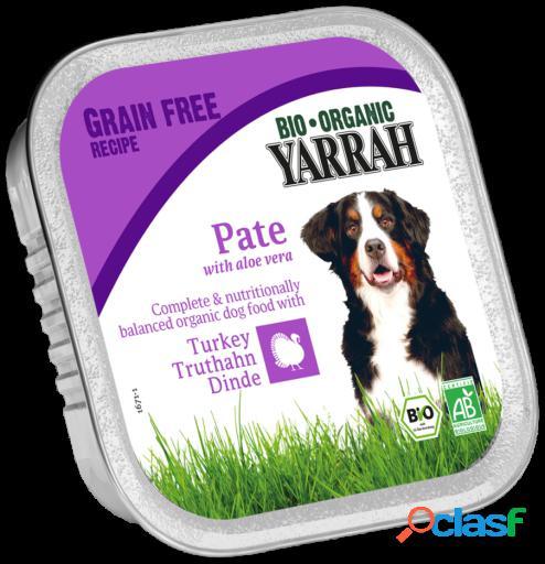 Yarrah Tarrina para perros con pavo y aloe vera 150 gr bio