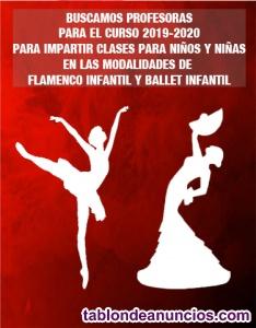 Buscamos profesoras de flamenco infantil y ballet infantil