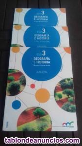 Vendo libros 3 unidades geografia e historia 3ºeso 1-11.