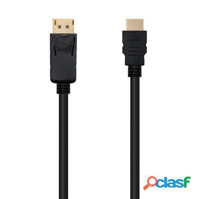 Cable conversor Dp a Hdmi negro, 2m, original de la marca