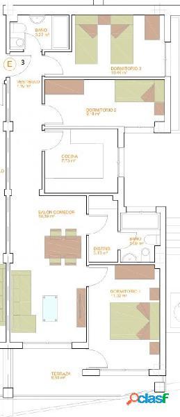 Piso de Tres Dormitorios de nueva construcción. C28 T20