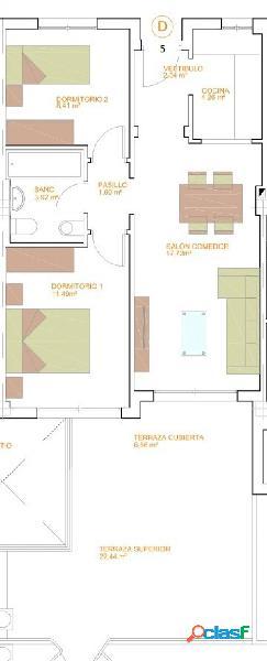 Piso de dos dormitorios de nueva construcción. C11