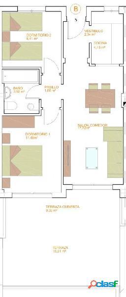 Piso de dos dormitorios de nueva construcción. C29