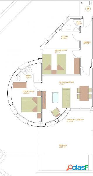 Piso de dos dormitorios de nueva construcción. T13 C20