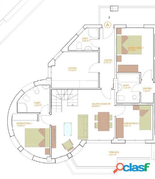 Pisos de Dos Dormitorios de obra nueva C37 T19