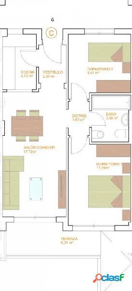 Pisos de Dos Dormitorios de obra nueva C8 T8