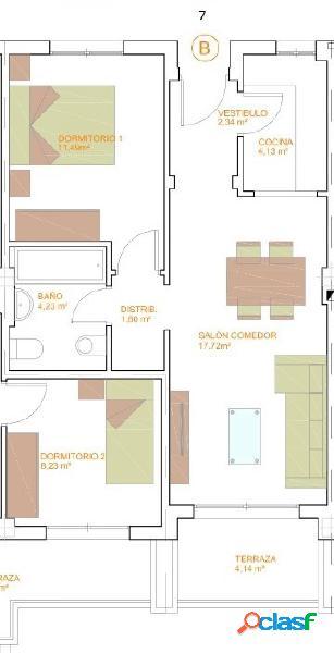 Pisos de Dos Dormitorios de obra nueva c14