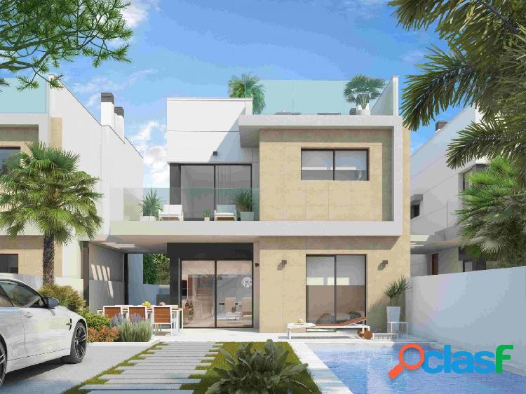Villas modernas de 3 dormitorios con solárium en Benijófar