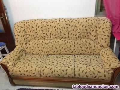 Vendo sofá tres plazas