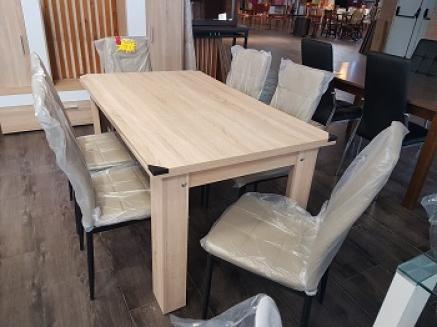 Mesa rectangular cambrian y sillas nuevas