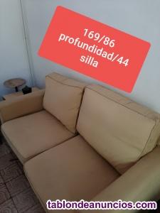Oferta sofa color crema 3 plazas 70€