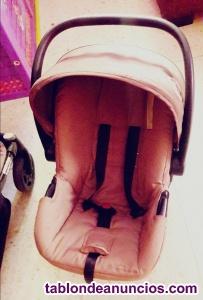 Carro de bebe con mazicosi y capazo