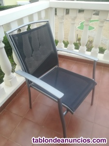 6 sillas de jardin