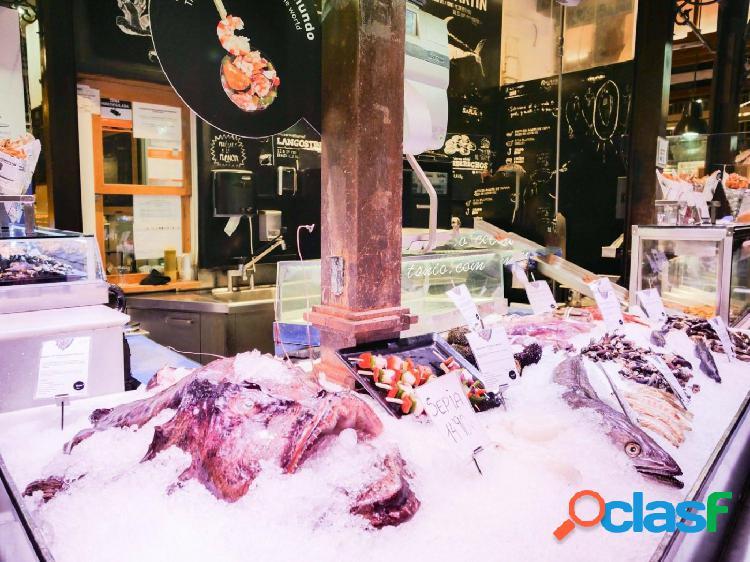 Se vende el puesto de pescadería dentro el mercado de Pere