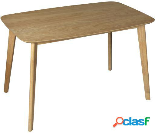 Wellindal Mesa comedor madera color roble