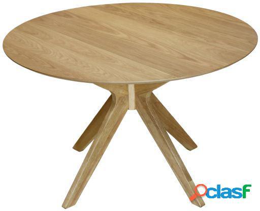 Wellindal Mesa comedor madera color roble tablero dm y chapa