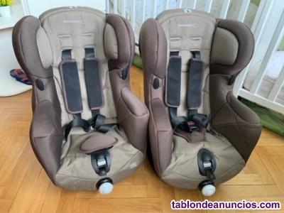 Vendo 2 sillas coche iguales bebé confort iseos - grupo 1 -
