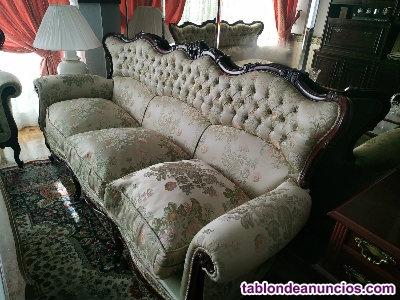 Conjunto de sofás clásicos estilo luis xvi tallados
