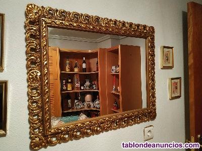 Espejo de pared estilo barroco color dorado