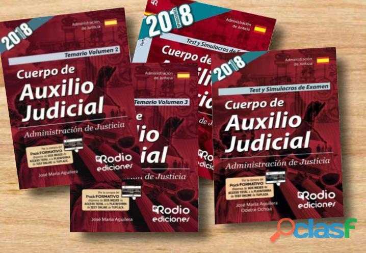 LIBROS OPOSICIONES AUXILIO JUDICIAL 2019