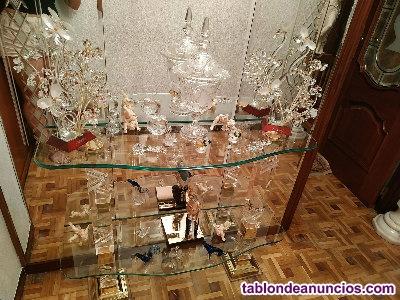 Mueble de cristal y metacrilato para entrada o pasillo