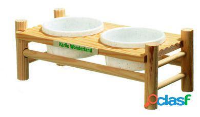 Karlie Flamingo Mesa de comida con 2 platos 24 x 10 x 8 cm