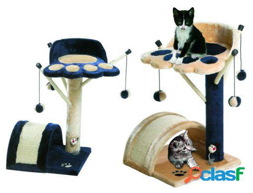 Karlie Flamingo Rascador gato kitty kidz iii beige/azul 60 x