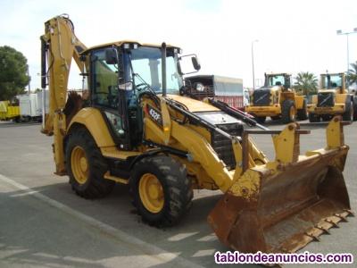 Retro excavadora mixta caterpillar 432f.