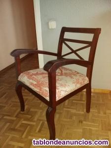 Sillón de madera asiento tapizado
