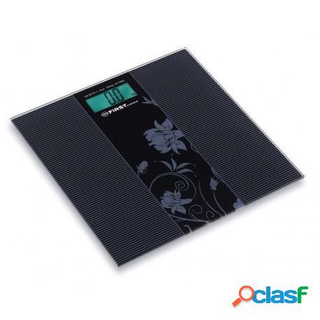 Báscula de baño electrónica color negro con plataforma de