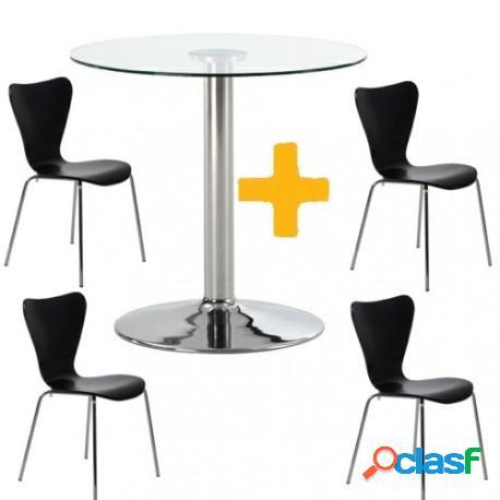 Mesa Cristal + 4 sillas JACOB Casa de Hoy