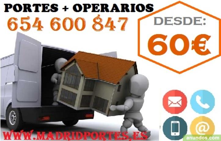 Empresa de portes//fletes baratos en:arganzuela,torrejon de