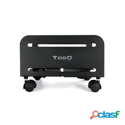 TooQ Soporte para cpu de suelo con ruedas negro, original de