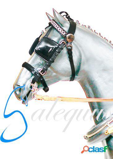 Galequus Cabezada Bridón Negro Full para caballos