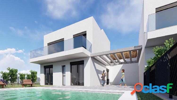 Promoción de villas de estilo moderno con vistas al mar en